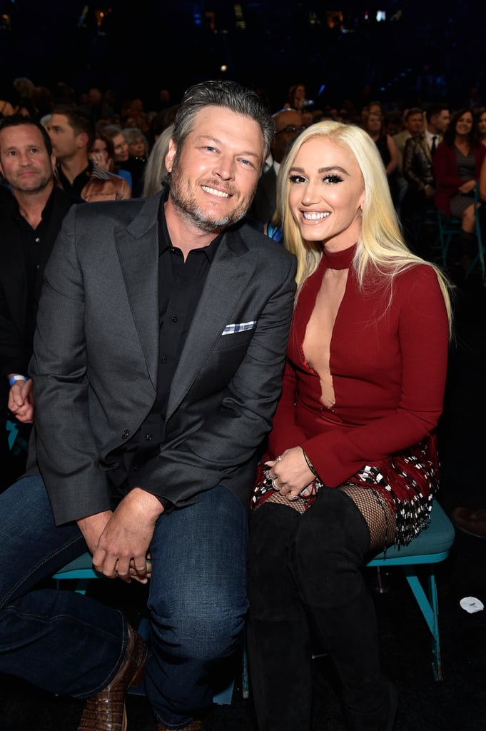 "No awkwardness here! On Sunday night, some of country music's biggest stars came together for the ACMs, but it also brought together former country couple Blake Shelton and Miranda Lambert. While the ""Tin Man"" singer briefly spoke about her ""broken heart"" during her acceptance speech for song of the year, the two managed to keep their distance during the show. In fact, Blake looked completely carefree as he flaunted his love with Gwen Stefani. Aside from posing with Nicole Kidman and Keith Urban, the pair also shared a cute moment as they held hands backstage.  Blake and Gwen first started dating in November 2015, shortly after splitting from their spouses; Blake and Miranda filed for divorce in July, while Gwen and Gavin Rossdale ended their 13-year marriage in August. Even though the two were discreet about their romance at first, they have since become inseparable, showing sweet PDA any chance they get. See some of the highlights from Blake, Gwen, and Miranda's night at the ACM Awards ahead.       Related:                                                                                                           26 Snaps From the ACM Awards That Will Make You Wish Your Invite Didn't Get Lost in the Mail"
