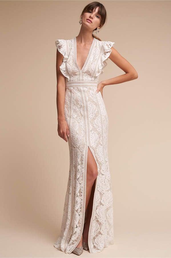 Modern Lita Gown Bhldn Model - Wedding Dresses From the Bridal ...