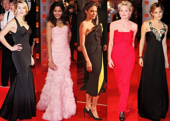 Photos From 2009 BAFTA Awards, Featuring Kate Winslet, Freida Pinto, Angelina Jolie, Emma Watson, Sharon Stone, Amy Adams, etc