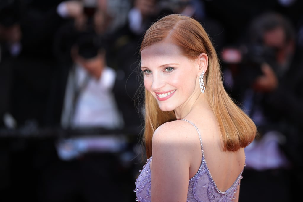 Jessica Chastain With a Deep Side Part in 2017