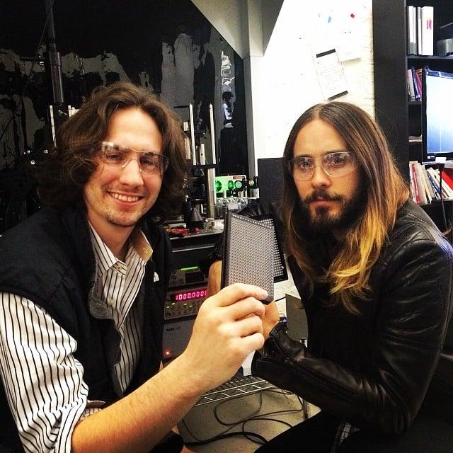 """""""Me + Austen Heinz of Cambrian Genomics,"""" Jared captioned his snap. Source: Instagram user jaredleto"""