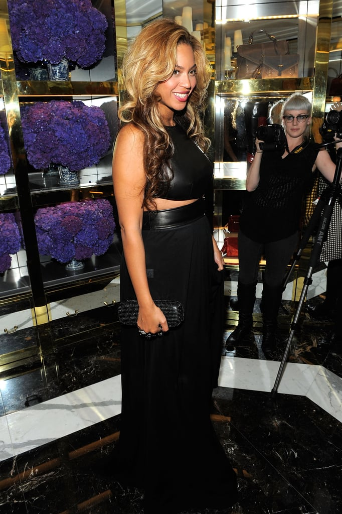 Beyoncé Knowles at Tory Burch store opening in NYC.