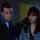 "Dylan's furrowed brow and Brenda's bumped-up hair were totally hot at the ""rave"" they attended in season one."