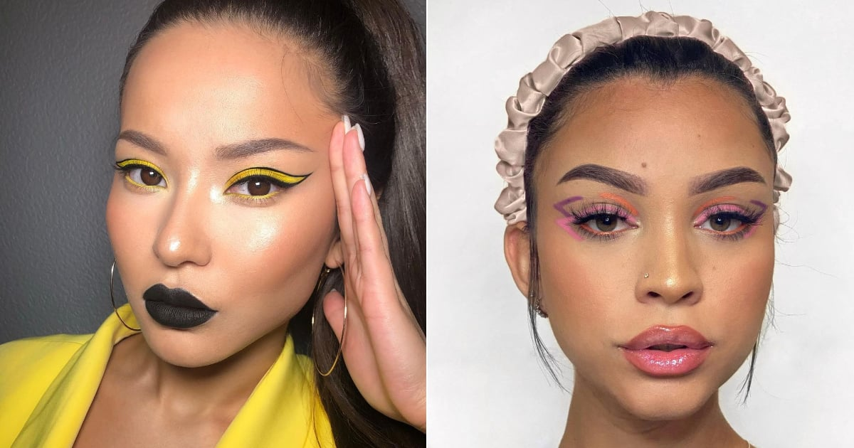 """Two Is Better Than One When It Comes to Summer's """"Double Wing"""" Makeup Trend"""
