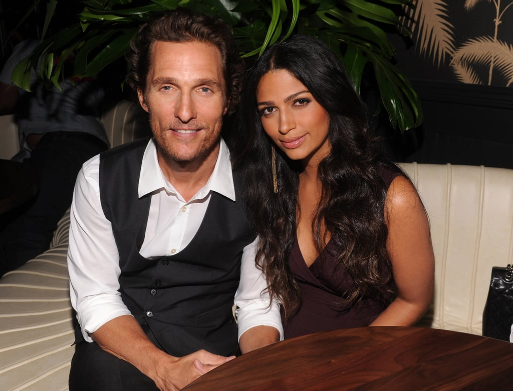 Camila Alves and Matthew McConaughey sat together at her INC event in NYC.