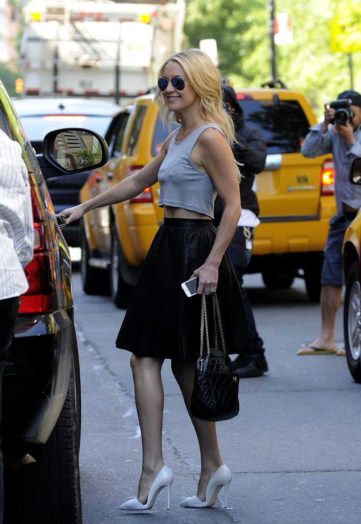 Kate Hudson looked amazing while in NYC on Monday.