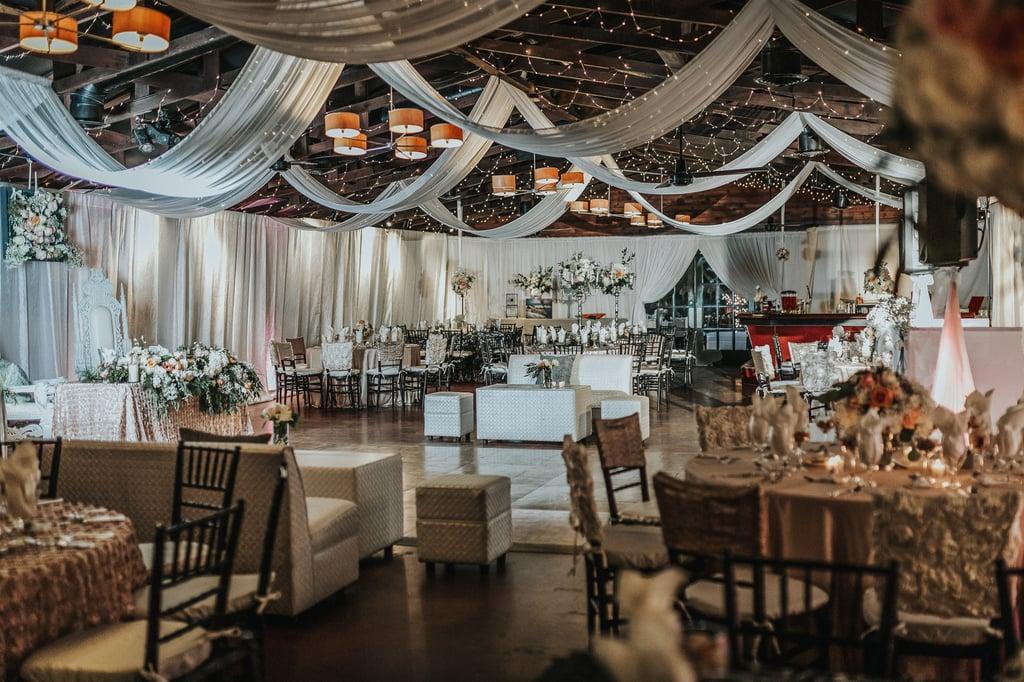 Elegant Wedding Reception Blush Gray Colors As Stunning As The
