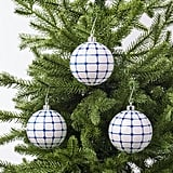Vinterfest White and Blue Ornament Set