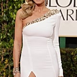 Heidi Klum sported her usual sexy look for the 2013 Golden Globes.