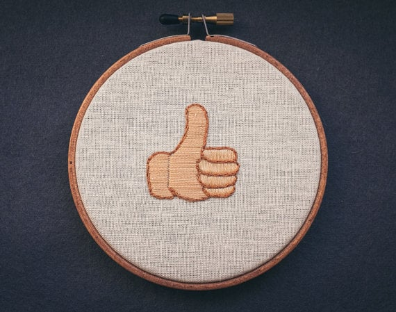 Thumbs-Up Four-Inch Wall Hanging ($55)