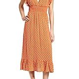 BP. Ruffle Trim Midi Dress