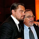 Former Costars Leonardo DiCaprio and Robert De Niro Have a Sweet Reunion at an NYC Gala
