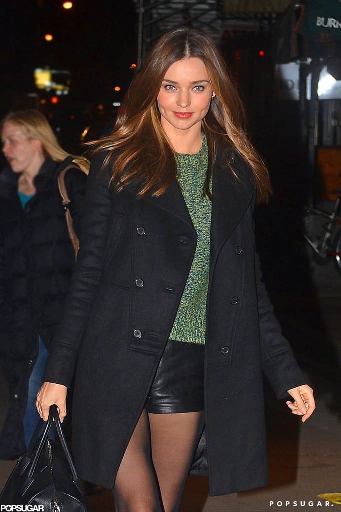 Miranda Kerr stepped out in a leggy look.