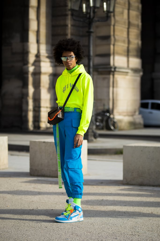 Neon colorways are one sure-fire way to keep the cargo-pant look fresh for a new season. Just add an ultrabright hoodie or tee to stay on theme.