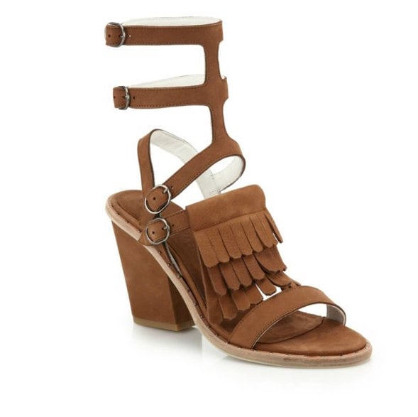 Freda Salvador Free Fringed Suede Sandals ($495)