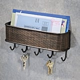 InterDesign Twillo Mail Wall Key Rack Organizer