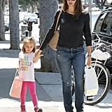 Jennifer Garner took a shopping trip with Seraphina Affleck on Thursday.