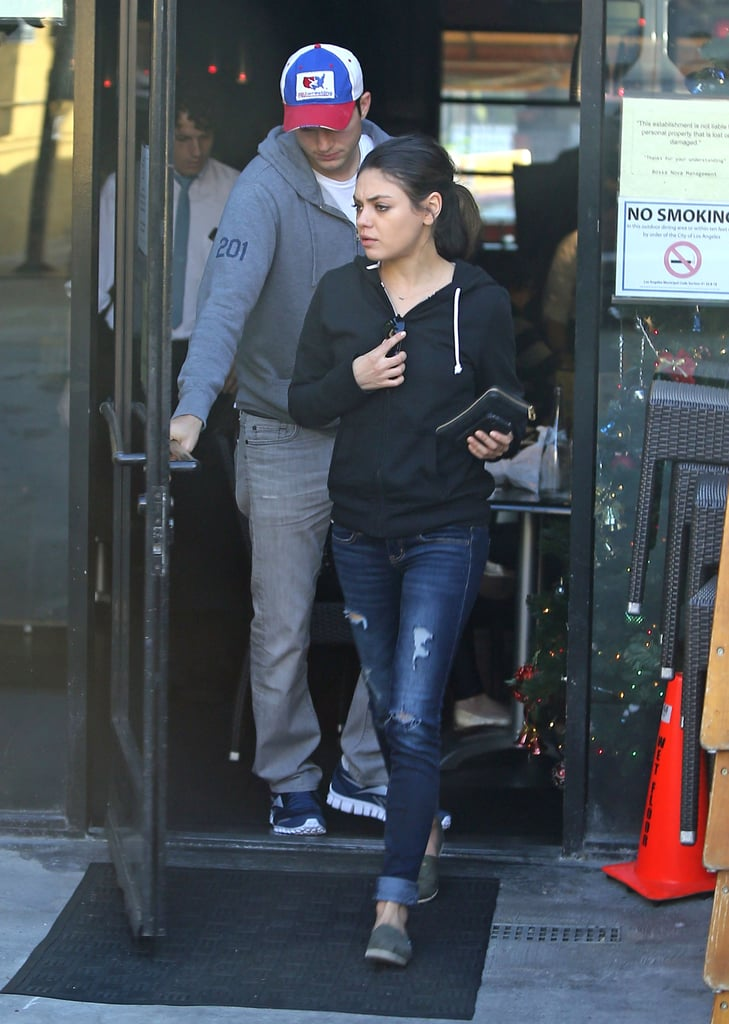 Ashton Kutcher and Mila Kunis had lunch together in LA.