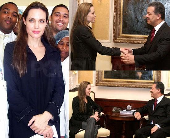 Photos of Angelina Jolie in Haiti