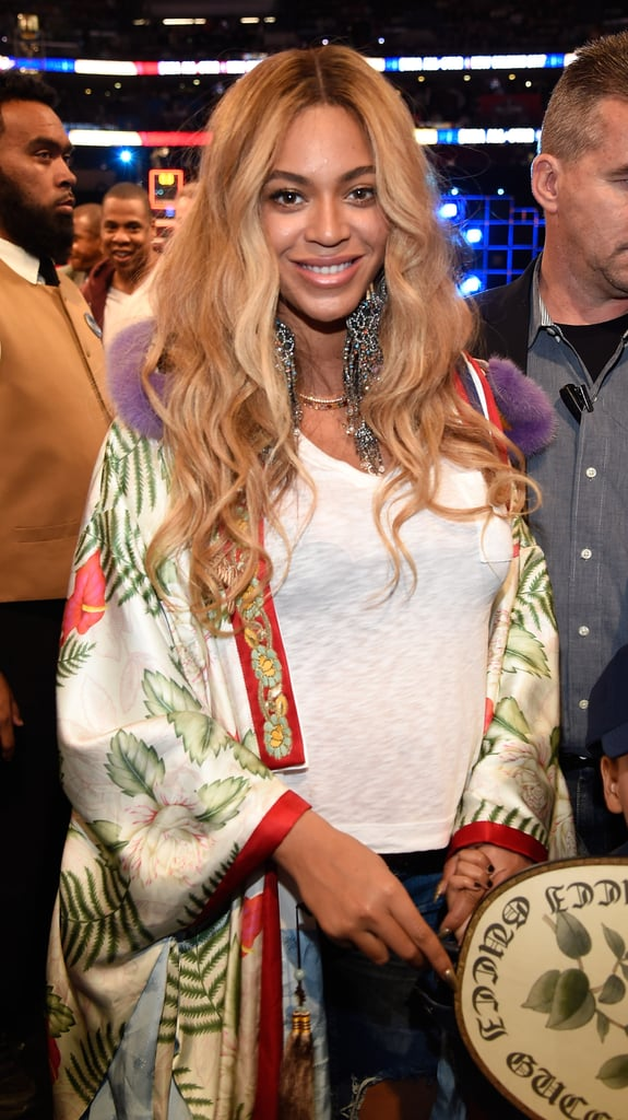 Beyonce's Gucci Robe at the NBA All-Star Game 2017