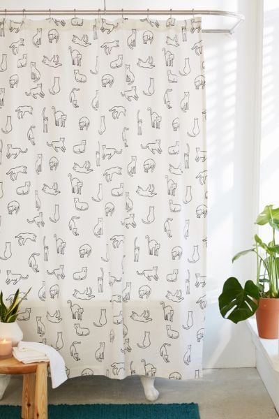 Urban Outfitters Cats Shower Curtain