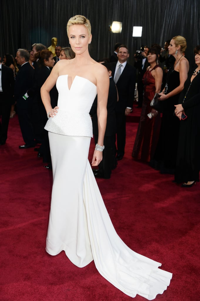 Charlize Theron in Dior Dress at the Oscars