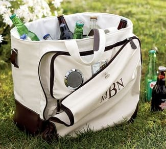 iPod Speaker and Cooler Beach Bag From Pottery Barn