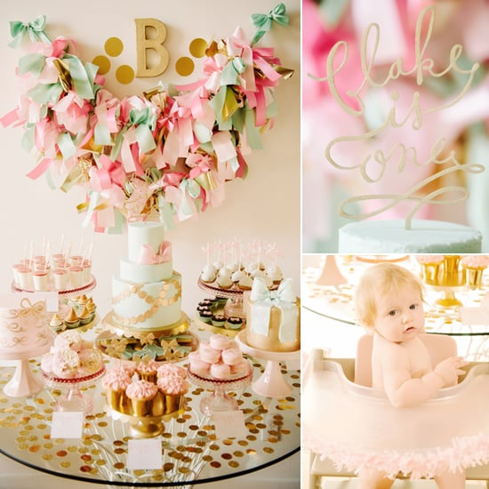 Pink And Gold Bow First Birthday Party