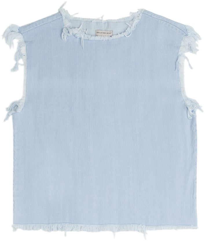 Marc by Marc Jacobs Denim Top With Frayed Hem