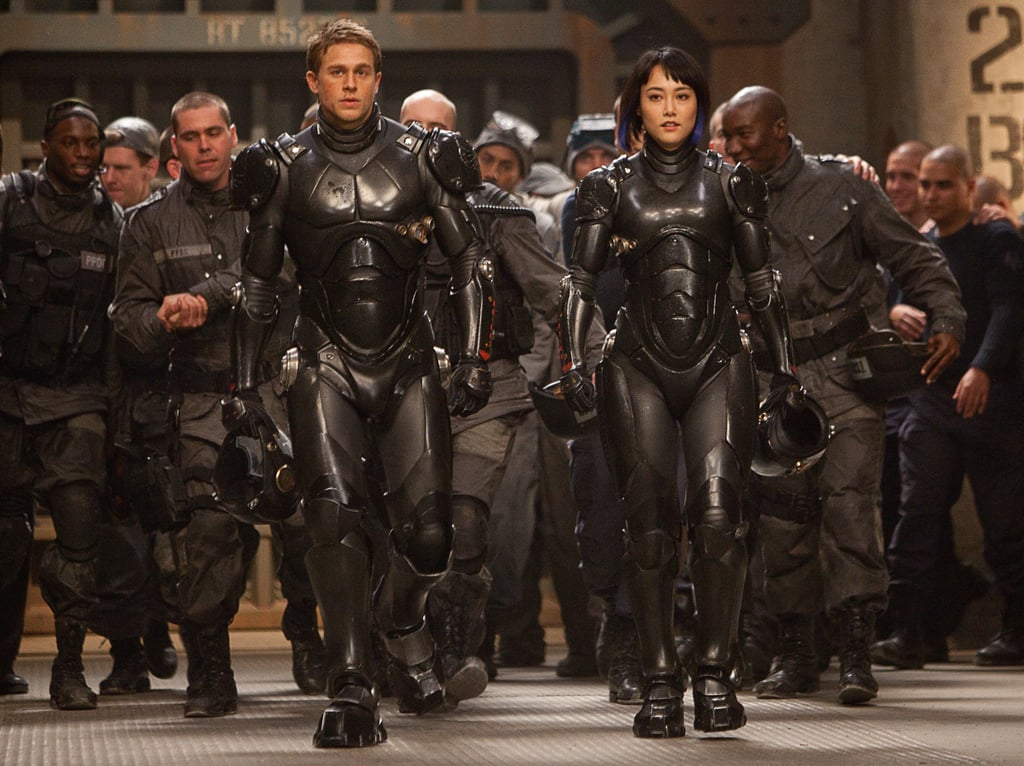 Pacific Rim  Who's starring: Charlie Hunnam, Rinko Kikuchi, and Idris Elba Why we're interested: Based on the trailers, this movie features some incredible visuals — and we're not just talking about handsome star Hunnam. Robots and monsters and aliens, oh my! When it opens: July 12 Watch the trailer for Pacific Rim.