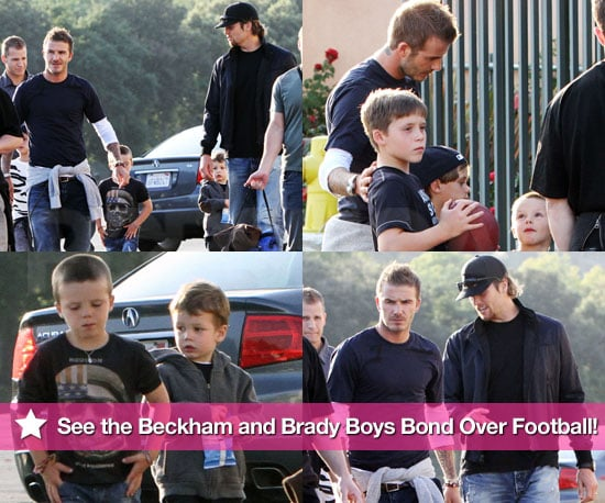 Pictures of Tom Brady and David Beckham With Their Sons At UCLA Football Game