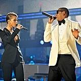 Jay-Z and Alicia Keys at the 2009 American Music Awards