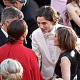 Timothée and Maya Rudolph