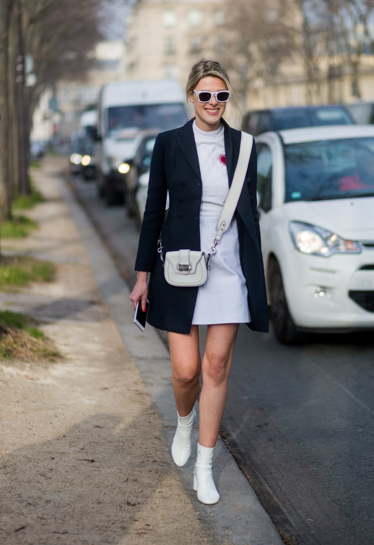 how to wear white boots in winter