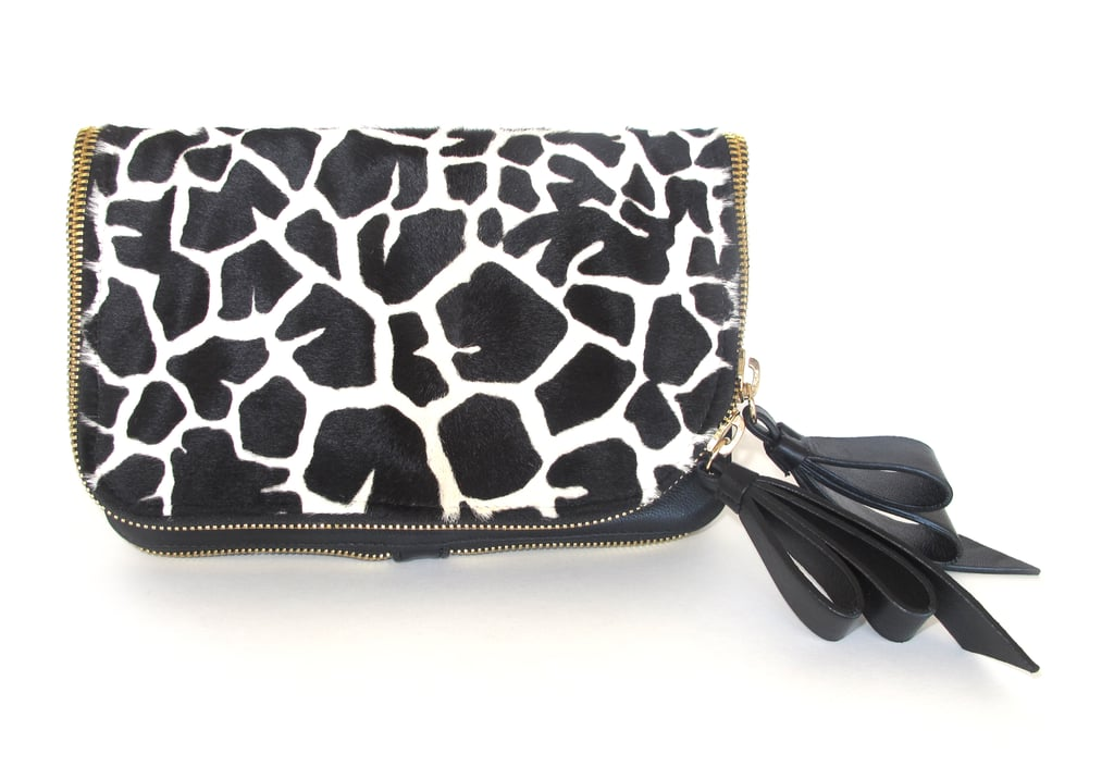 Jerome C. Rousseau Giraffe Haircalf Ruse Clutch ($895)