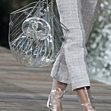 This Clear Tote Bag Featured a Sparkly Chanel Logo