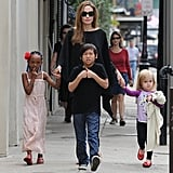 Angelina Jolie Pictures with Zahara, Pax and Vivienne in NOLA New Orleans