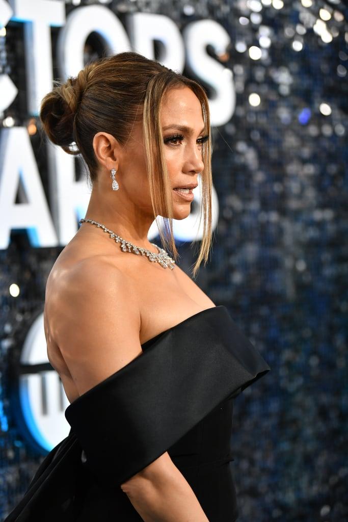 Jennifer Lopez's Hair at the 2020 SAG Awards