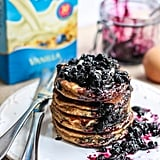 Fluffy Coconut Flour Pancakes (With Wild-Blueberry Maple Syrup)
