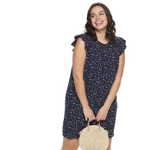 POPSUGAR Plus Size Ruffle Sleeve Dress