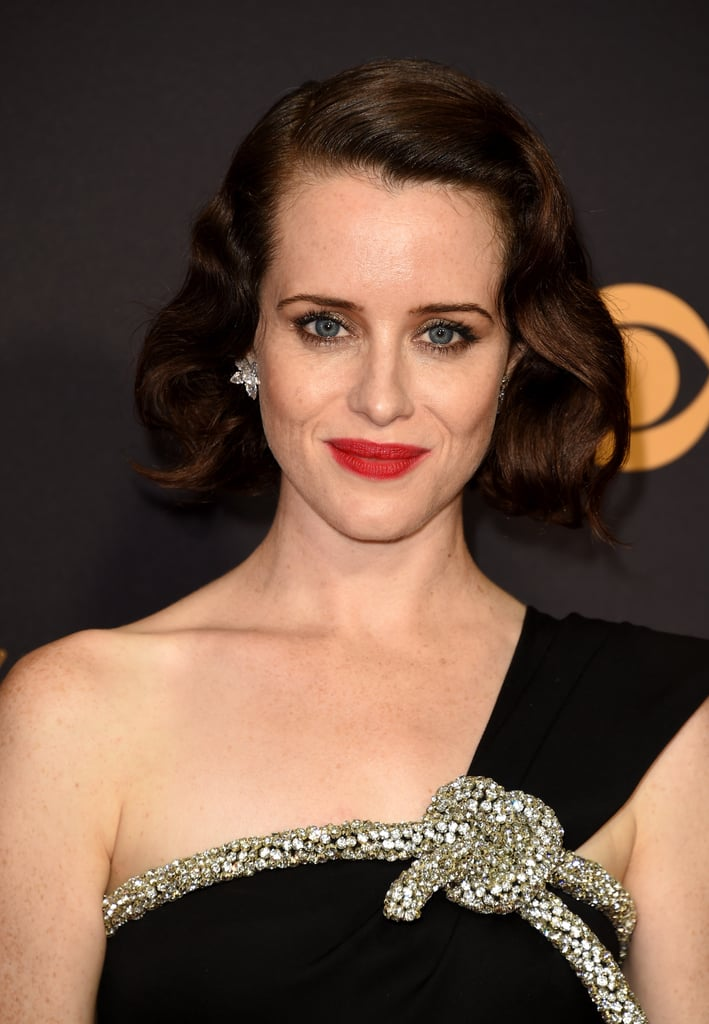 Claire Foy Celebrity Hair And Makeup At The Emmy Awards