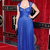 Homeland's Morena Baccarin also looked lovely in blue.