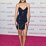 Wearing David Koma at a Maybelline event.