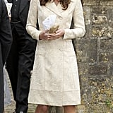 The coat's first public outing was for the wedding of Camilla's daughter, Laura Parker-Bowles, in 2006.