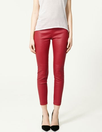 Zara Leather Trousers ($260)