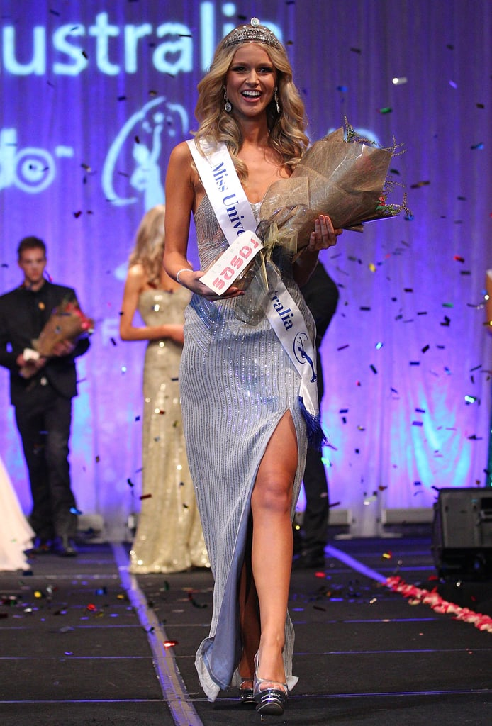 There was a whole lot of eye candy in Melbourne last night, as 33 beauties competed for the Miss Universe Australia crown. Perth-based model Renae Ayris won the heated competition, and took the title from outgoing Miss Australia Scherri-Lee Biggs — who is also from WA. Scherri-Lee went on the place in the top 10 at the international final in Brazil last year, so here's hoping Renae can do the same or better! The most famous Miss Australia is of course Jennifer Hawkins, who won the title in 2004. Click through to see Renae in the pageant and accepting her $30,000 diamond and pearl crown.