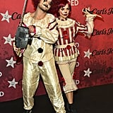 Val Chmerkovskiy and Jenna Johnson as Killer Clowns