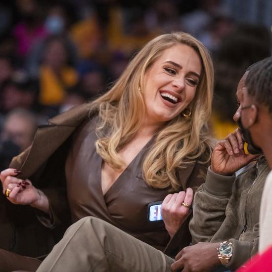 Kid Cudi and Adele Talking at Lakers Game