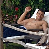 Kris Humphries was shirtless laying out with Kim.