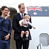 When She Flew With Prince George and Prince William